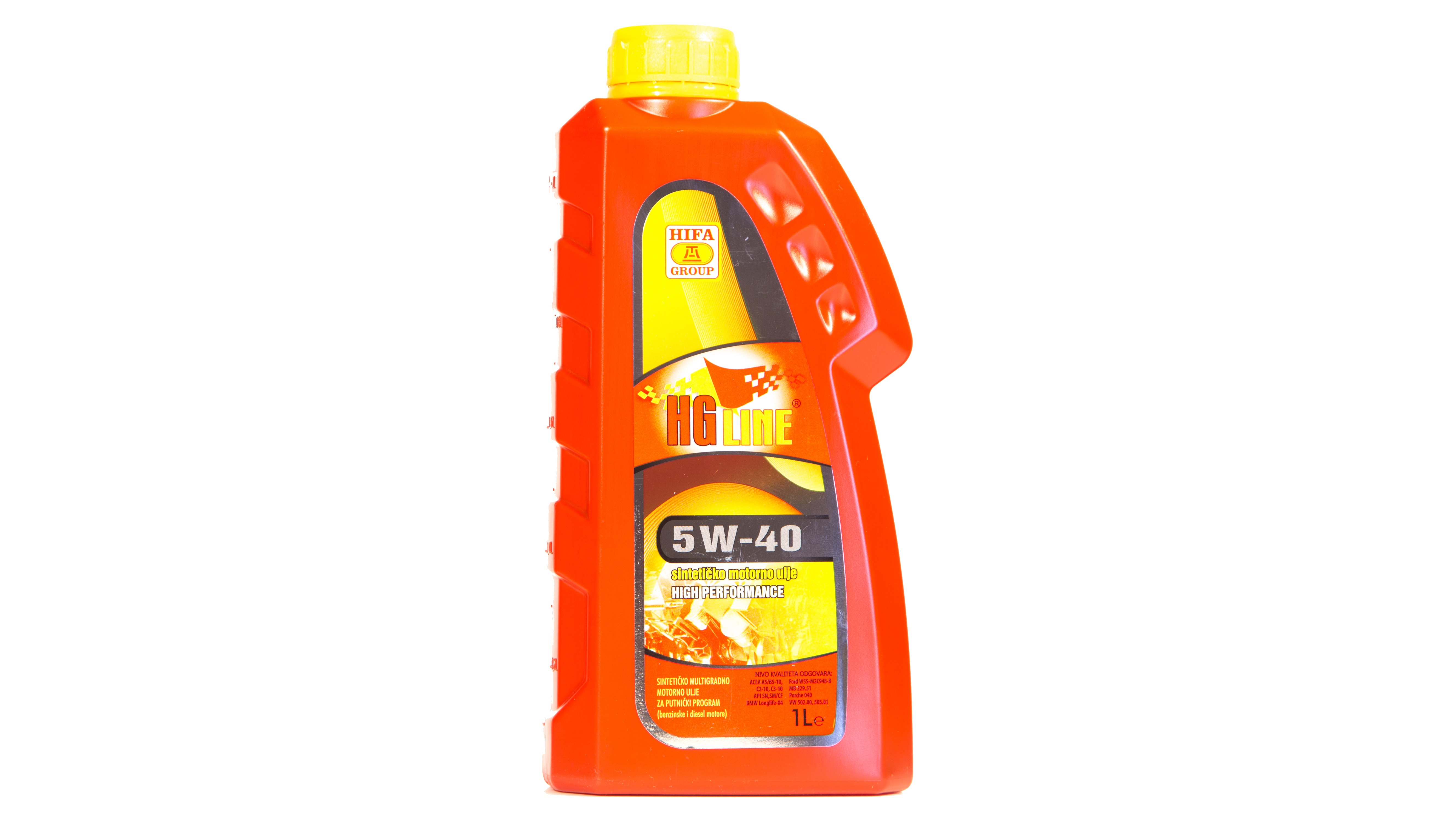 HGline 5W-40 -  High performance synthetitic multigrade motor oil