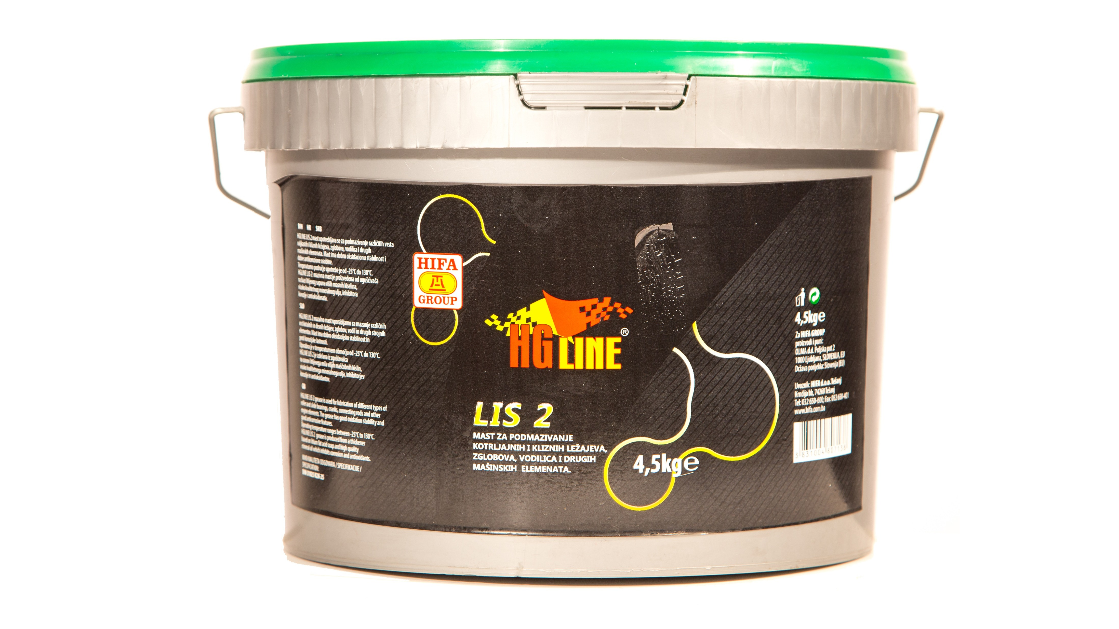 LIS Grease for lubrication of rollers and slide bearings
